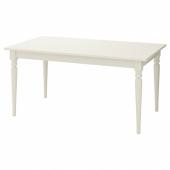 ИНГАТОРП Раздвижной стол,белый